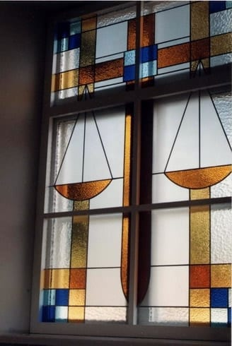 Vitraazid Kuressaare kohtumajja 1996  <br/>Stainglass windows for  Kuressaare Courthouse (with M.Saare) 1996 -  Kuressaare, Estonia