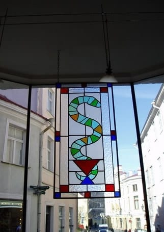 Vitraazid apteegile Rataskaevu 2 - 1998 Tallinn, Eesti  <br/> Stainglass windows for a pharmacy in Rataskaevu st 2 - 1998 - Tallinn, Estonia