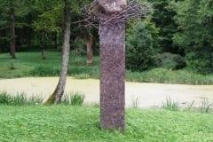 """Mälestusmärk kirjanik JUHAN JAIGILE """"KAARNAKIVI"""" 1999 pronks, graniit h= 3,5 m - Rõuge, Eesti   <br/>Monument for Estonian writer JUHAN JAIK """"KAARNAKIVI"""" 199 bronze, granit h= 3,5 m - Rõuge, Estonia"""
