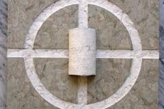 Eesti Vabariiki esindav paereljeef 2002 50 x 50 cm - Austria <br/> A limestone relief representing Estonian Republic 2002 50 x 50 cm - Austria