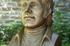 Śoti luuletaja ROBERT BURNS´i büst 2005 pronks, graniit - Tallinn, Eesti  <br/>The byst of Scotish poet ROBERT BURNS 2005 bronze, granit - Tallinn, Estonia