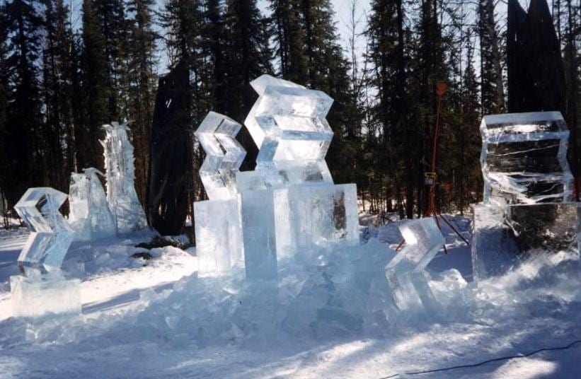 """""""JÄÄTUNUD HINGED"""" 1998 h= 4 m Fairbanks, Alaska, USA <br/> """"FROZEN SPIRITS"""" 1998 h= 4 m Fairbanks, Alaska, USA"""