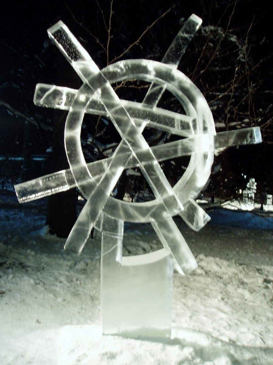 """PÄIKESERATAS"" 2006  h= 2,5 m Helsingi, Soome   <br/>""SUNWHEEL"" 2006 h= 2,5 m Helsinki, Finland"