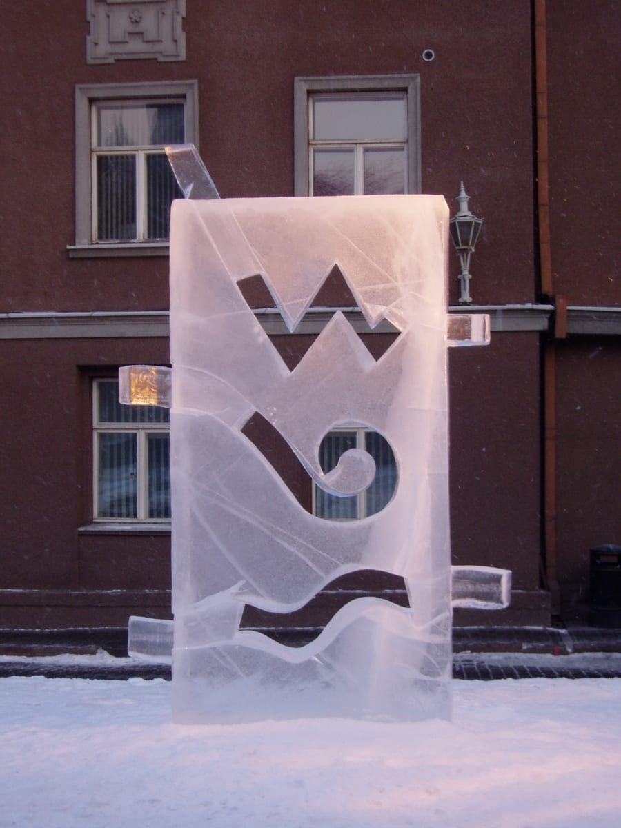 """""""TULI.VESI.ÕHK"""" 2007 h= 2,3 m  Tallinn, Eesti <br/> """"FIRE.WATER.AIR."""" 2007 h= 2,3 m  Tallinn, Estonia"""