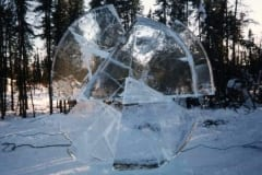 """JÄÄTUNUD AEG"" 1998 h= 2,5 m Fairbanks, Alaska, USA  ""FROZEN TIME"" 1998 h= 2,5 m Fairbanks, Alaska, USA"