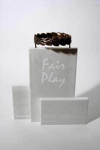 """Auhind """"FAIR PLAY"""" 2006 marmor, pronks  <br/>An award """"FAIR PLAY"""" 2006 marble, bronze"""