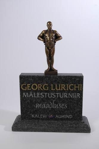 GEORG LURICHI nim. maadlusauhind 2006 graniit, pronks  <br/>A G.Lurich Wrestling Award 2006 granit, bronze