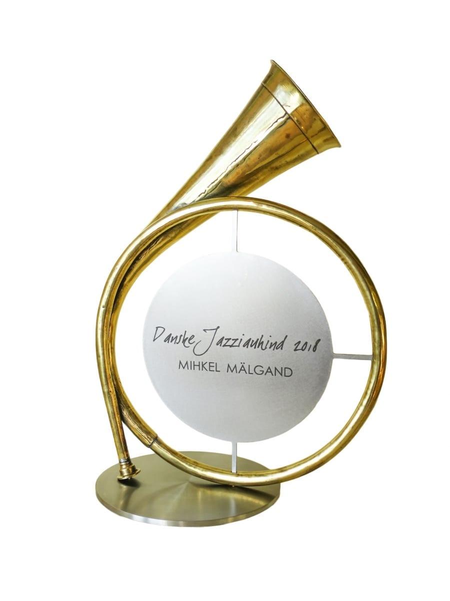 DANSKE JAZZIAUHIND 2018 metall, roostevaba teras  <br/>DANSKE JAZZAWARD 2018 metal, stainless steel