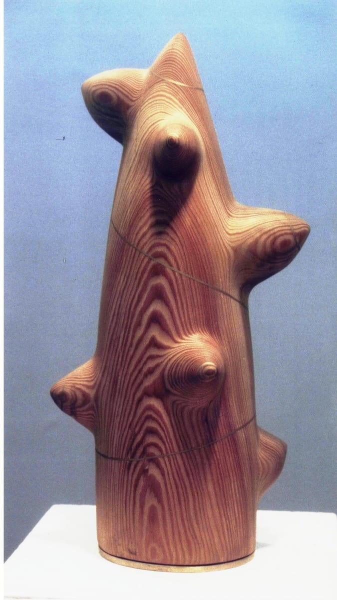 """ELUPUU"" 1990 puu, pronks  <br/>""TREE of LIFE"" 1990 wood, bronze"