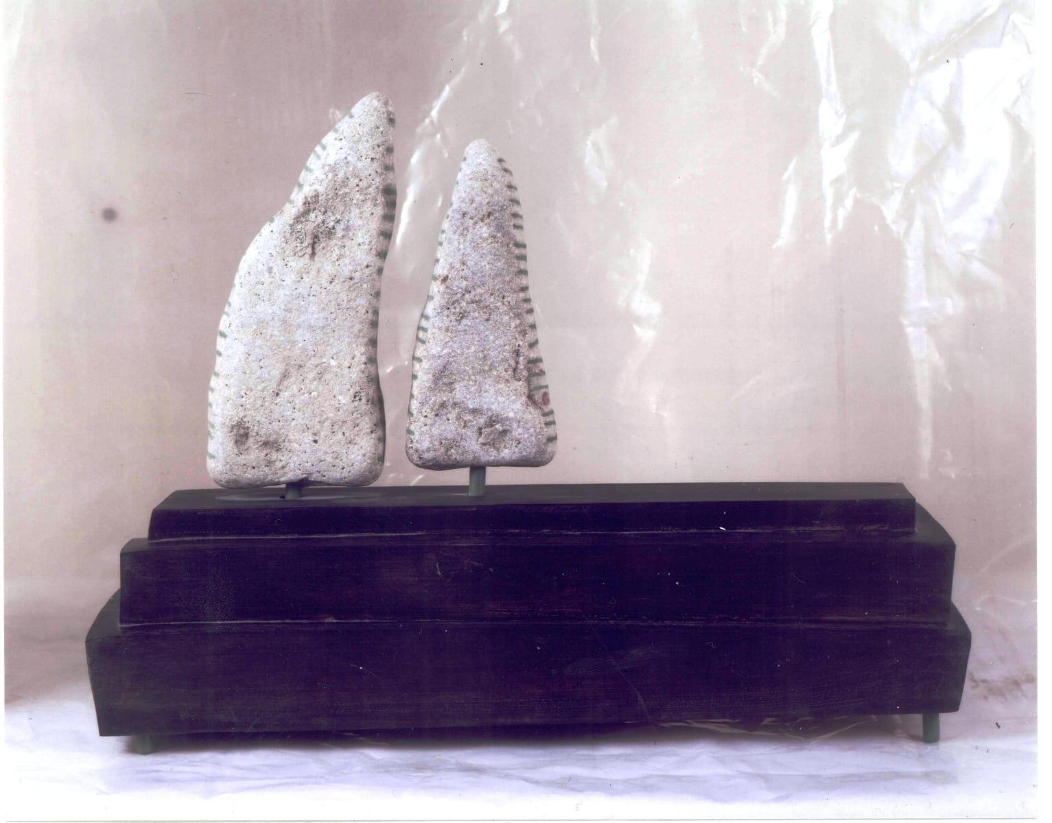 """""""KADAKAD"""" puu, kivi, metall  <br/>""""JUNIPERS"""" 1993 wood, limestone"""