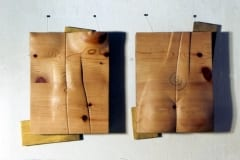 """EESTVAADE-TAGANTVAADE"" 1994 puu  <br/>""FROM FRONT AND BACK"" 1994 wood"