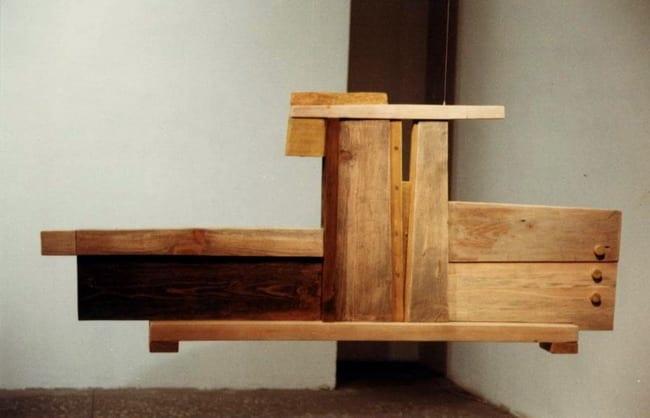 """""""NIMETU IV"""" 1996 puu<br/> """"NAMELESS IV 1996 wood"""