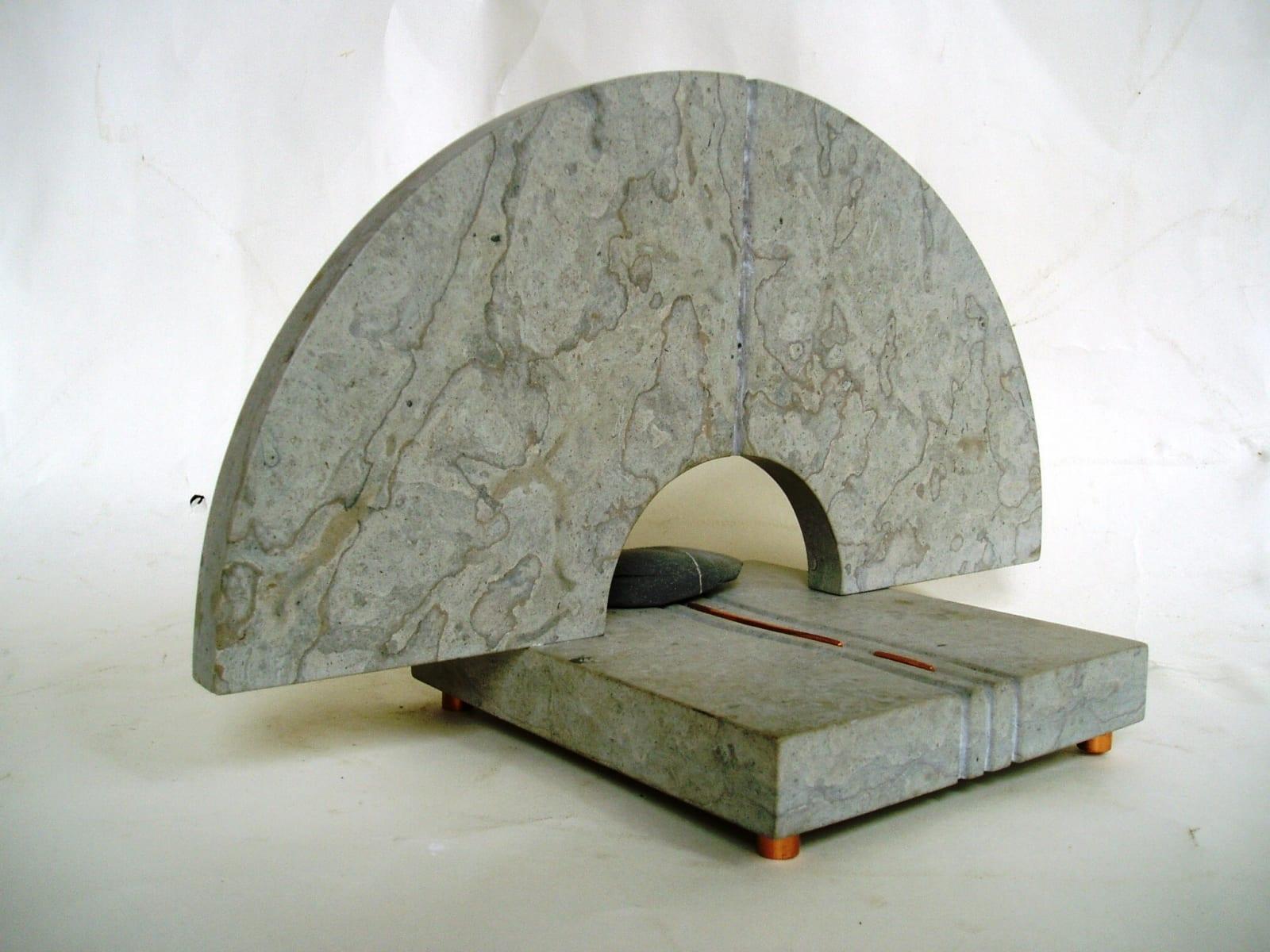 """ELUJÕGI"" 1997 paekivi, pronks, kivi <br/>""A RIVER of LIFE"" 1997 limestone, bronze, stone"