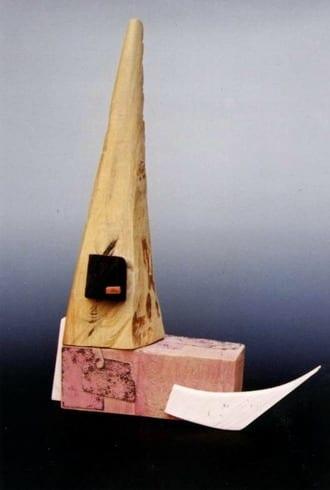 """NIMETU XII"" 1997 puu, liivapaber<br/> ""NAMELESS XII 1997 wood, sandpaper"