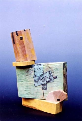 """NIMETU XIV"" 1997 puu, liivapaber<br/> ""NAMELESS XIV 1997 wood, sandpaper"