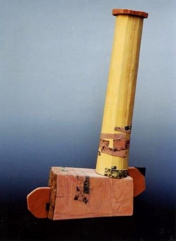 """NIMETU XV"" 1997 puu, liivapaber<br/> ""NAMELESS XV 1997 wood, sandpaper"
