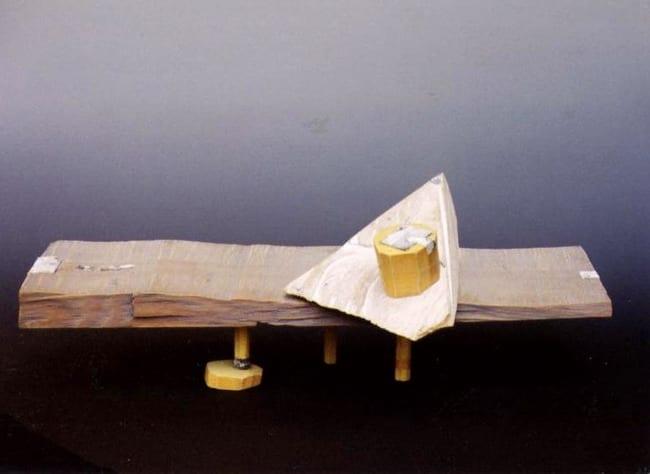 """NIMETU XVI"" 1997 puu, liivapaber <br/>""NAMELESS XVI 1997 wood, sandpaper"