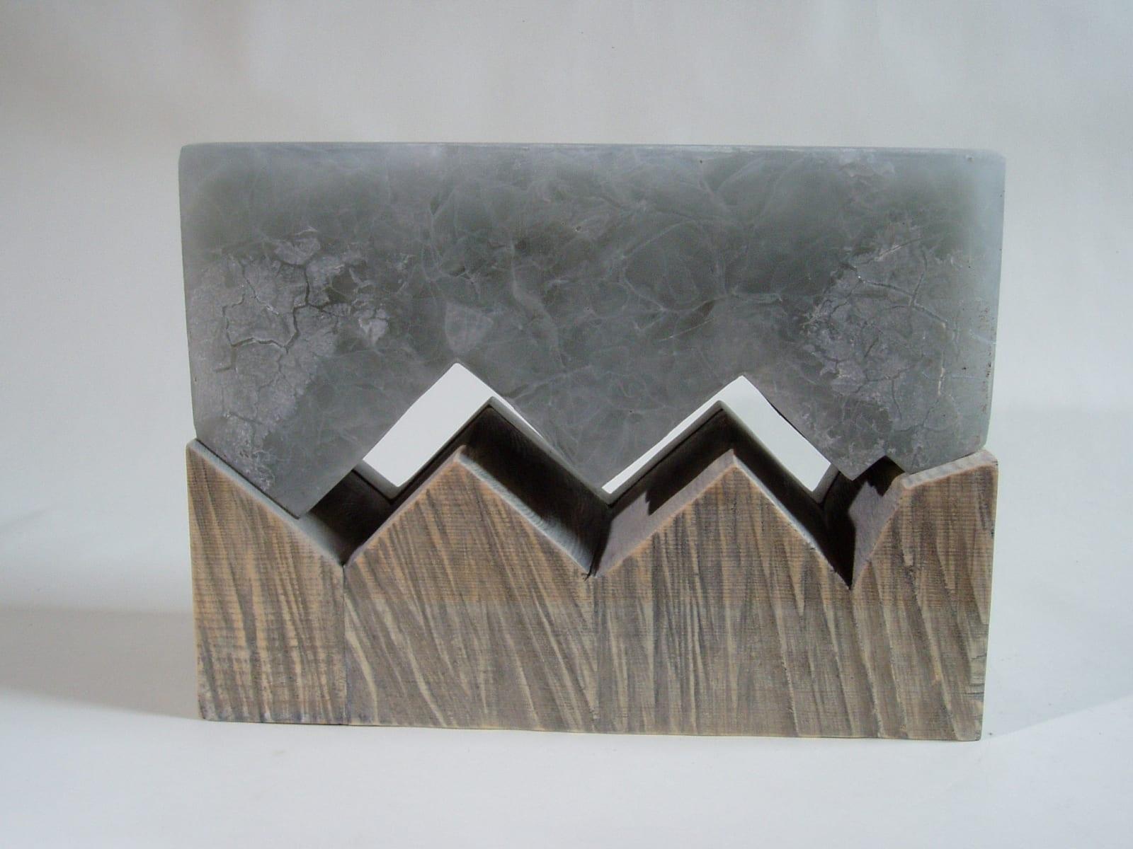 """""""LÄBIPÄÄS"""" 2005 puu,klaas,paekivi <br/>""""PASS THROUGH"""" 2005 wood, glass,limestone"""