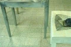 """""""LAUAD"""" 2005 puu,klaas,joonistus <br/>""""TABLES"""" 2005 wood,glass,drawing"""