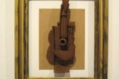 """""""HOMMAGE to PABLO"""" 2013 piparkoogi taigen, pildiraam, papp<br/> """"HOMMAGE to PABLO"""" 2013 gingerbread,frame,cardboard"""