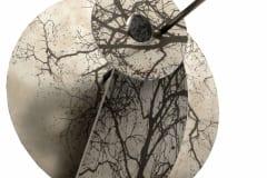 """""""RAAGUS II"""" 2016 lasergravering roostevabal terasel<br/> """"TREMBLED TREES II"""" 2016 lazer engraving on stainless steel"""