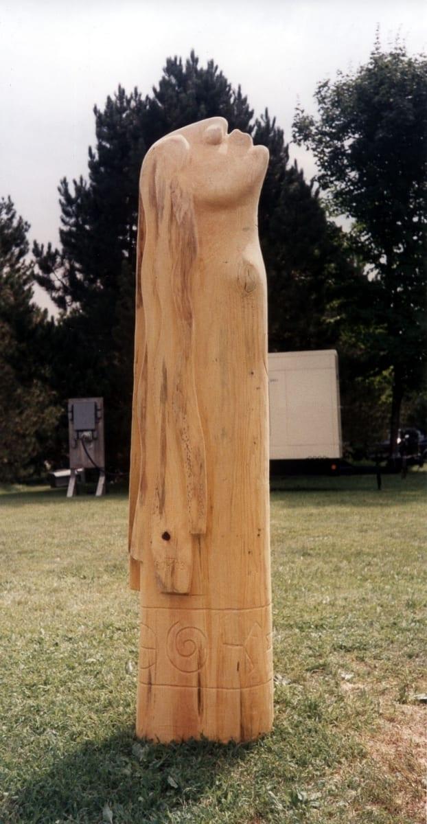 """TUUL"" 2003 puu - puuskulptuuri sümpoosion Oneida indiaanlaste reservaat, Wisconcin, USA<br/> ""WIND"" 2003 wood - wood carving symposium in Oneida indian reservation, Wisconcin, USA"