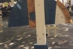 """""""VOOLAB LÄBI"""" 1998 puu - puuskulptuuri sümpoosion Sagadi, Eesti<br/> """"FLOWING THROUGH"""" 1998 wood - wood carving symposium in Sagadi, Estonia"""