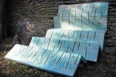 """""""RONIB ÜLES"""" 2001 puu - puuskulptuuri sümpoosion Sagadi, Eesti<br/> """"CLIMBING UP"""" 2001 wood - wood carving symposium in Sagadi, Estonia"""