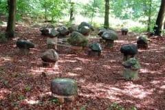 """""""HIIGLASTE MÄNG"""" 2005 kivid, nöör - maakunsti sümpoosion """"The Legend"""" Holland<br/> """"THE GIANTS´ PLAY"""" 2005 stones, string - land-art symposium in Holland"""