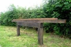"""KANAL"" 2010 puu p= 3,6 m - rahvusvaheline kohaspetsiifiline skulptuurisümpoosion Ellesmere, Suurbritannia <br/> ""CANAL"" 2010 wood - l= 3,6 m - an international site-specific sculpture symposium in Ellesmere, Great Britain"